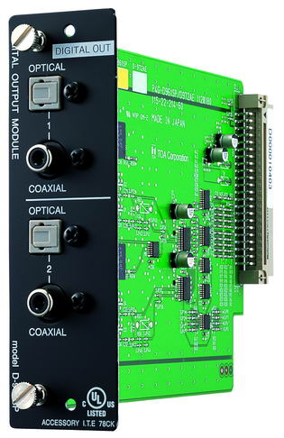 Stereo 2-channel line digital output module