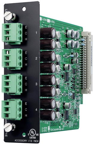 D-971E 4-channel line output module