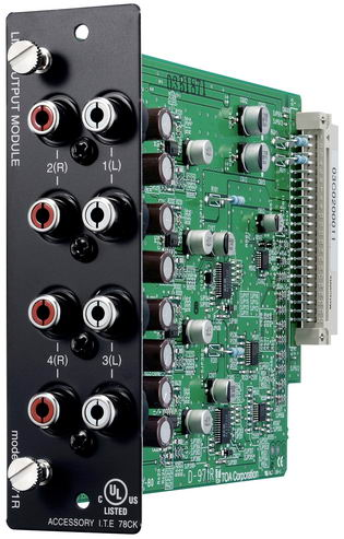 4-channel line output module