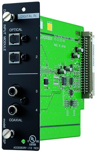 1 stereo channel line digital input module
